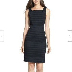 Eileen Fisher Striped Viscose Mid Length Dress